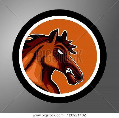 Mustang Circle sticker .eps10 editable vector illustration design