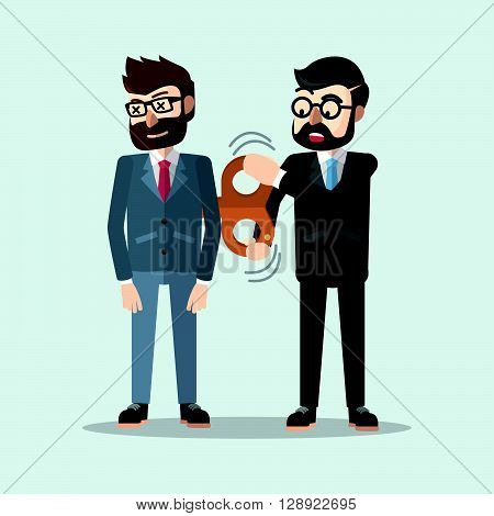 Business man suply energy .eps10 editable vector illustration design