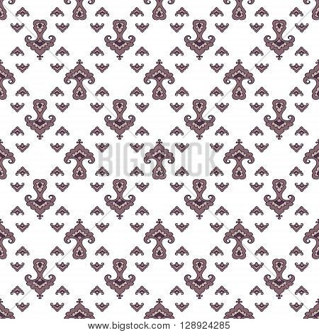 Tatar floral pattern. Stylized flower pattern. Vector illustration.