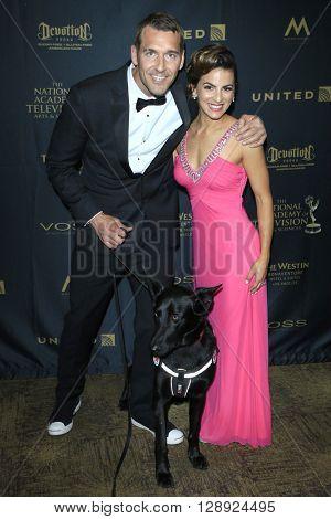 LOS ANGELES - May 1: Brandon McMillan, Renee Marino at The 43rd Daytime Emmy Awards Gala at the Westin Bonaventure Hotel on May 1, 2016 in Los Angeles, California