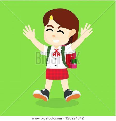 Girl using uniform .eps10 editable vector illustration design