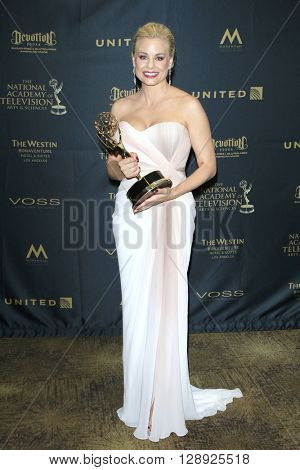 LOS ANGELES - May 1: Outstanding Supporting Actress, Drama, Jessica Collins at The 43rd Daytime Emmy Awards Gala at the Westin Bonaventure Hotel on May 1, 2016 in Los Angeles, California