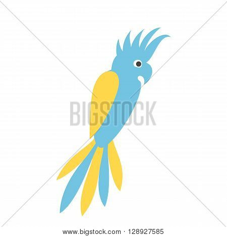 Parrot logo. Parrot flat icon. Cockatoo isolated icon,  silhouette. Cockatoo parrot sign vector illustration. Cockatoo parrot icon. Parrot logo Icon design