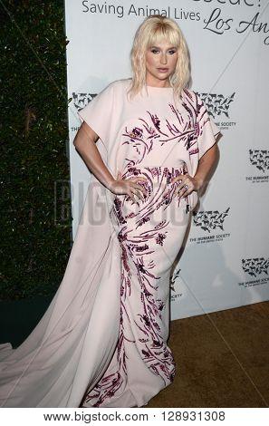 LOS ANGELES - MAY 7:  Ke$ha at the Humane Society Of The United States LA Gala at the Paramount Studios on May 7, 2016 in Los Angeles, CA