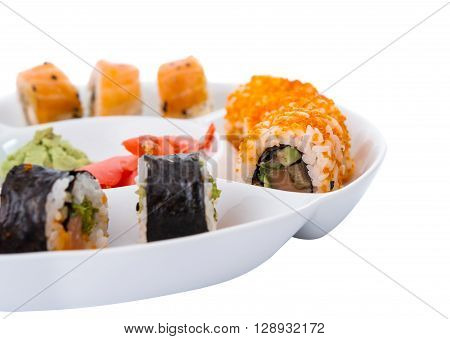 sushi isolated on white background, japan, japanese,