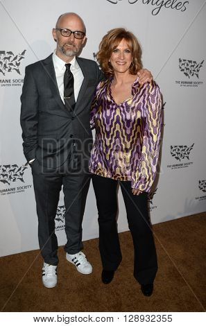 LOS ANGELES - MAY 7:  Moby, Carol Leifer at the Humane Society Of The United States LA Gala at the Paramount Studios on May 7, 2016 in Los Angeles, CA