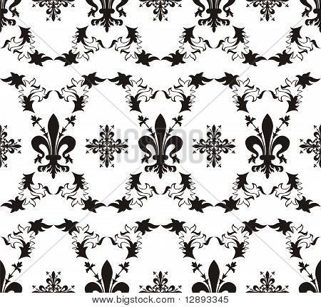 Seamless Royal Vector Texture With Fleur-de-lis
