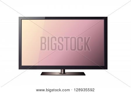 TV vector illustration art on white background