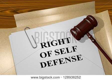Right Of Self Defense Concept