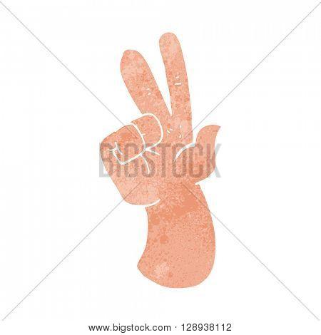 freehand retro cartoon hand counting