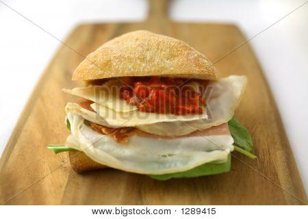 Prosciutto Ham And Cheese Sandwich