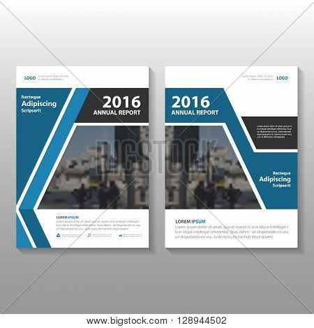 Blue Black Vector Business proposal Leaflet Brochure Flyer template design, book cover layout design