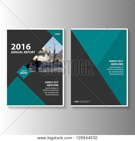Green Black Vector annual report Leaflet Brochure Flyer template design, book cover layout design