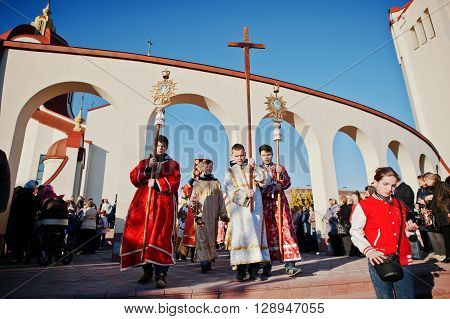 Lviv, Ukraine - April 27, 2016: Holy Week Passion And Death Of Jesus Christ.