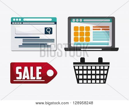 Searching concept with icon design, vector illustration 10 eps graphic.
