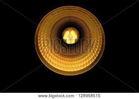 LED Light bulb illuminated with black background