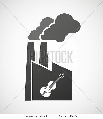 Isolated Industrial Factory Icon With  A Violin