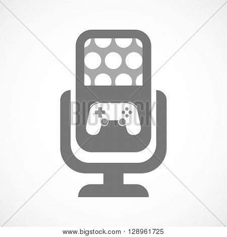 Isolated Mic Icon With  A Game Pad