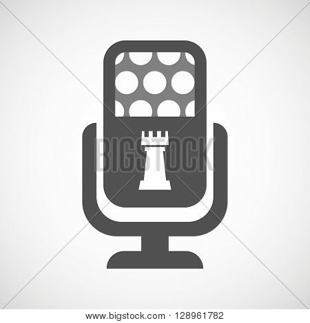 Isolated Mic Icon With A  Rook   Chess Figure