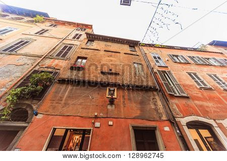 ROME - January 6: Beautiful streets of Rome 6 2016 in Rome Italy.