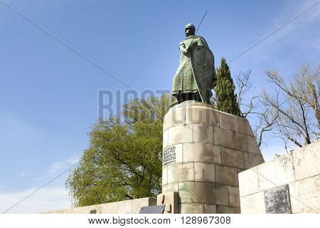 Afonso Henriques statue, first king of Portugal - Guimaraes