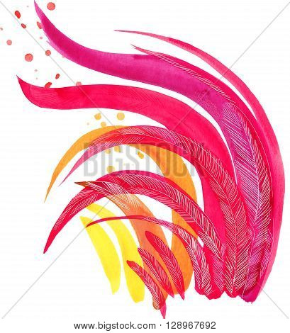 Rooster. Rooster Year. Chinese New Year of the Rooster. Watercolor Illustration. Rooster Chinese Painting. New Year card.