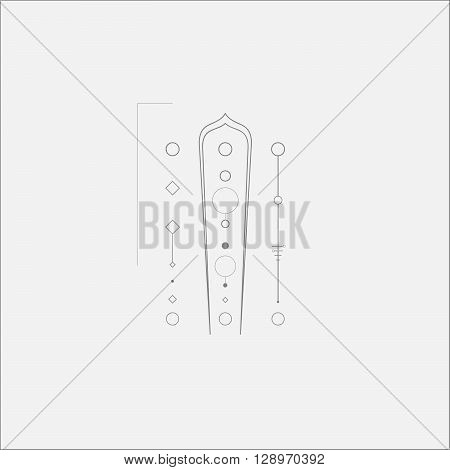 Abstract Alien Technology Minimal Tech Art Design