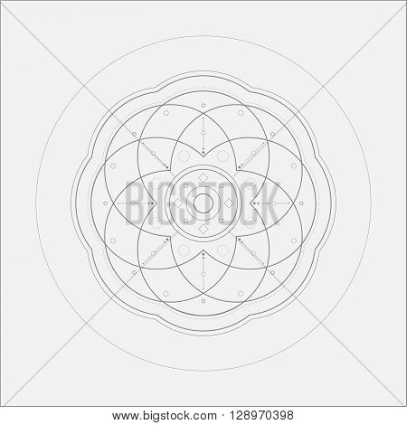 Circle Alien Sacral Mandala Minimal Art Odd Design