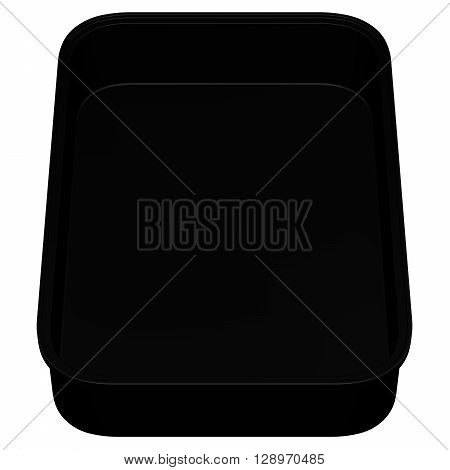Kitchen pan isolated on white background. 3D rendering.