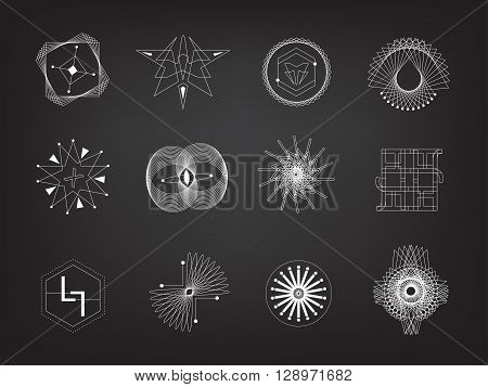 Line geometry vector eps10 design element. philosophy religion icon emotional art