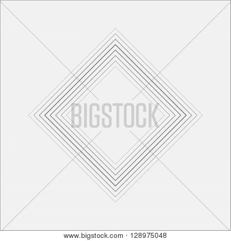 Central Ripple Rhombus Canvas Minimal Art Odd Design