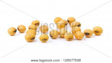 dry soybean isolated on a white background