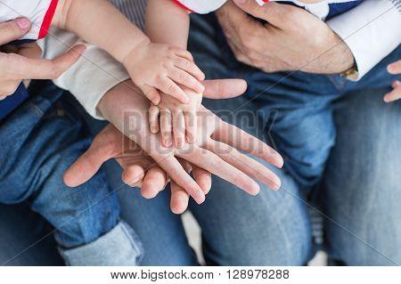 Family Hands Closeup