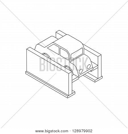 Car diagnostics icon in isometric 3d style isolated on white background
