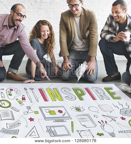 Inspire Creativity aspiration Inspiration Concept