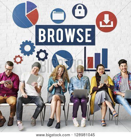 Browse Internet Software Information Webpage Concept