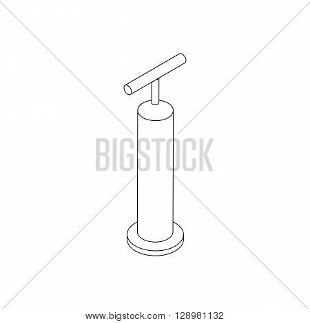 Hand pump icon in isometric 3d style isolated on white background