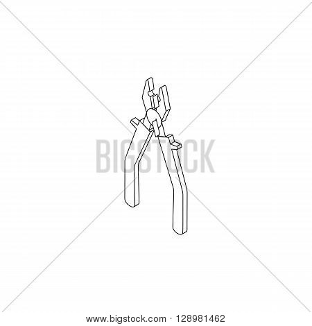 Pliers hand tool icon in isometric 3d style isolated on white background