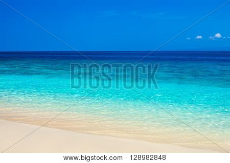 Beautiful beach and tropical turquoise sea. sea background