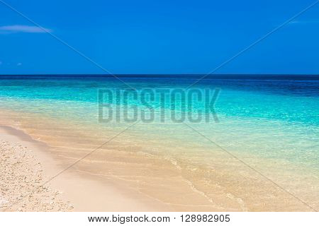 Beautiful beach and tropical turquoise sea. background
