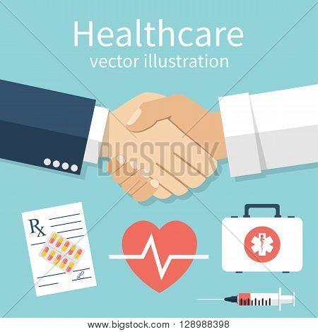 Handshake Doctor And Patient