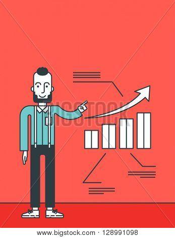Man presenting business report.