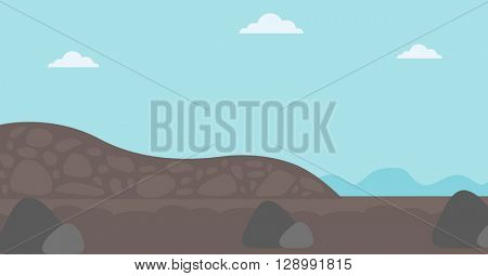 Background of heaps of coal.