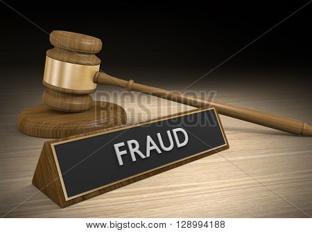 Laws against fraud, cons, and other criminal scams, 3D rendering