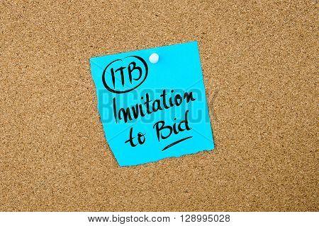 Business Acronym Itb Invitation To Bid