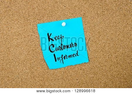 Business Acronym  Kci Keep Customers Informed