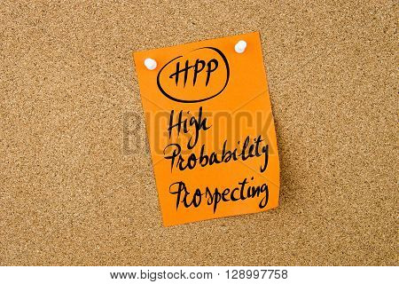 Business Acronym Hpp High Probability Prospecting