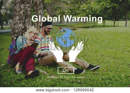 Global Warming Climate Change Environmental Website Concept