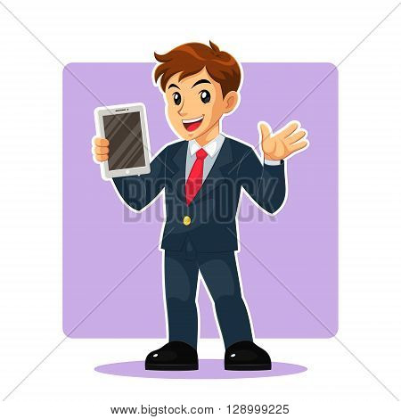 Businessman Mascot Character.