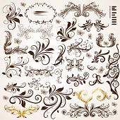 picture of scroll design  - Floral design elements - JPG